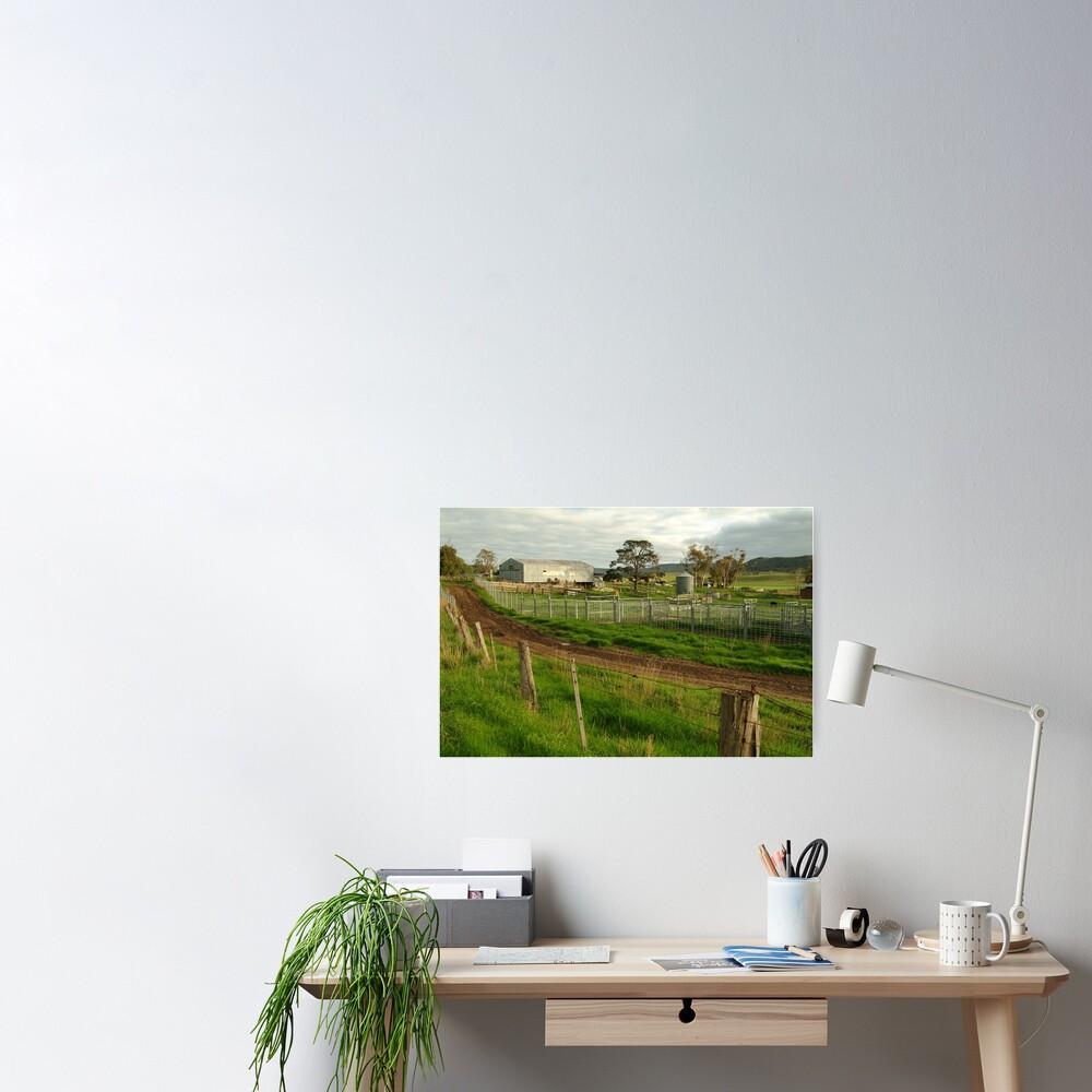 Joe Mortelliti Gallery - Rowsley valley farm, near Bacchus Marsh, Victoria, Australia.  Poster