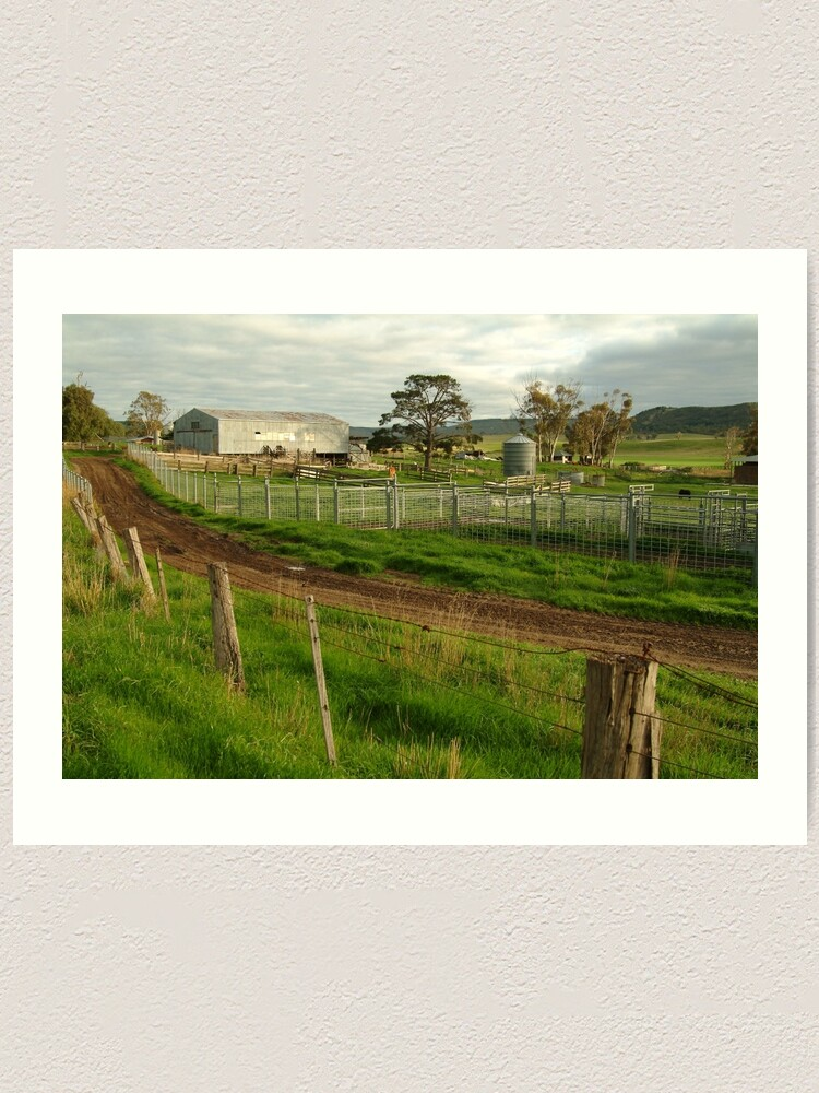 Alternate view of Joe Mortelliti Gallery - Rowsley valley farm, near Bacchus Marsh, Victoria, Australia.  Art Print
