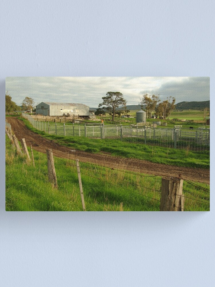 Alternate view of Joe Mortelliti Gallery - Rowsley valley farm, near Bacchus Marsh, Victoria, Australia.  Canvas Print