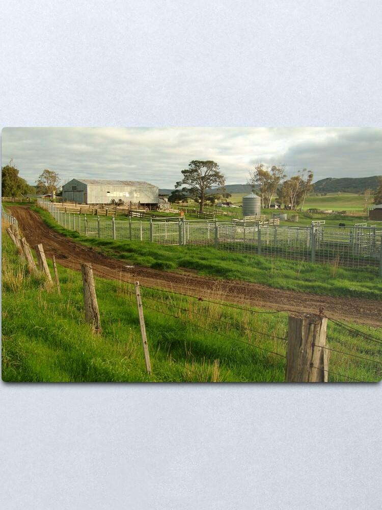 Alternate view of Joe Mortelliti Gallery - Rowsley valley farm, near Bacchus Marsh, Victoria, Australia.  Metal Print