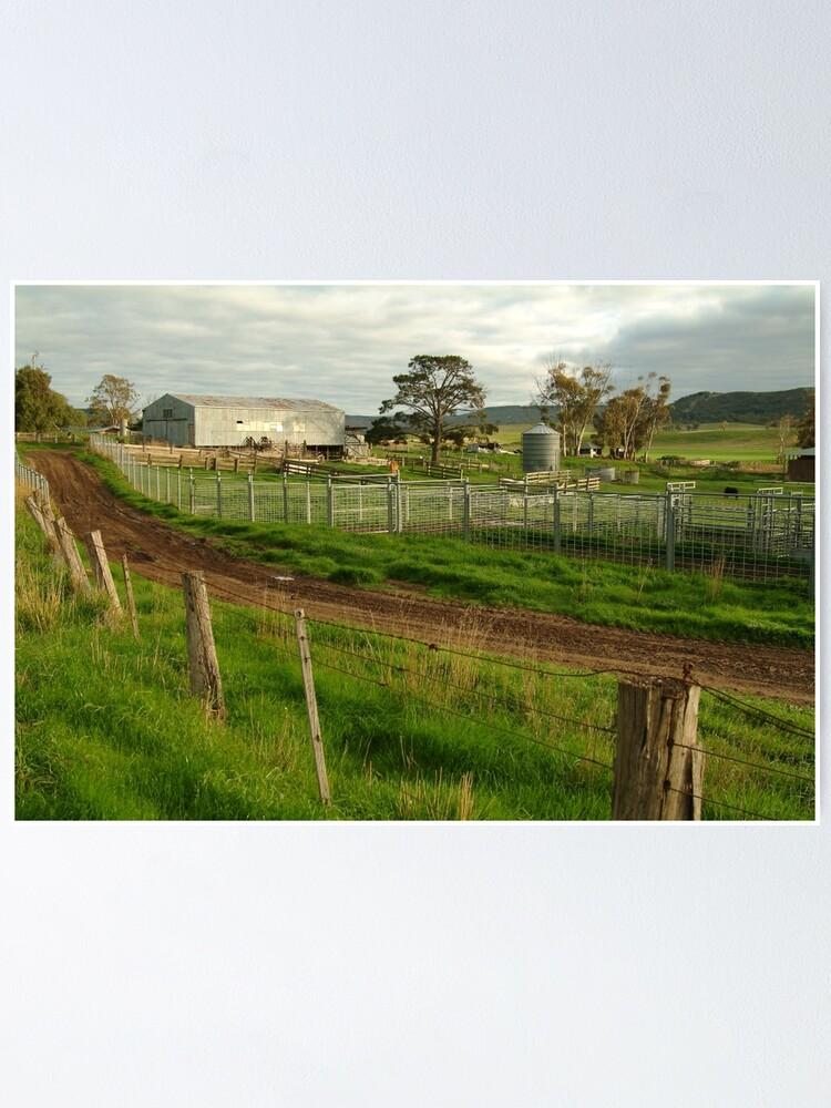 Alternate view of Joe Mortelliti Gallery - Rowsley valley farm, near Bacchus Marsh, Victoria, Australia.  Poster