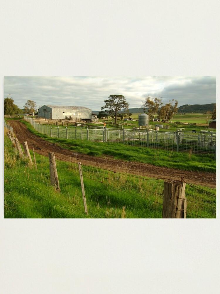 Alternate view of Joe Mortelliti Gallery - Rowsley valley farm, near Bacchus Marsh, Victoria, Australia.  Photographic Print