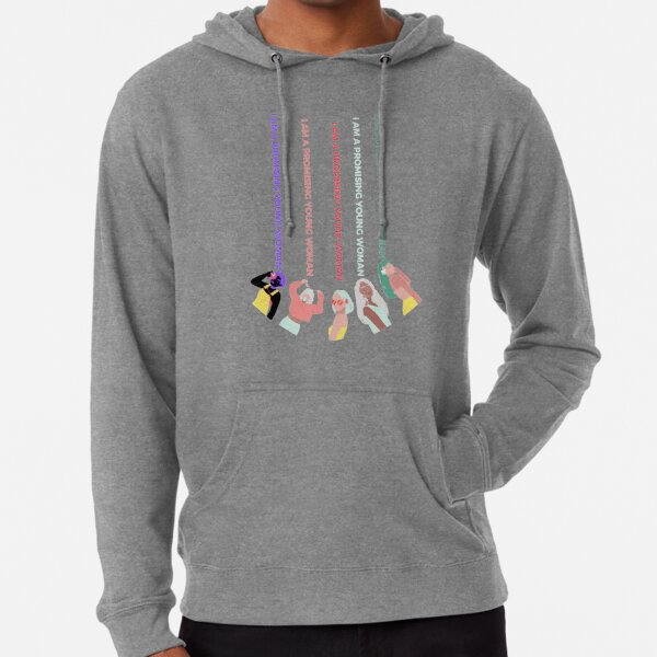 """Promising young woman - """"I am a promising young woman"""" Lightweight Hoodie"""