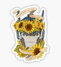 Optimus Prime  - Sunflowers Sticker