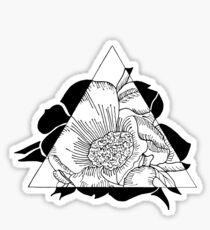 Tripartite Rose Sticker