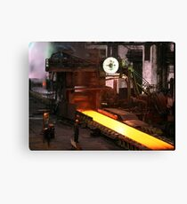 Steel Canvas Print