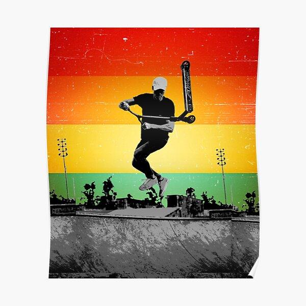 Kick Scooter rétro Poster
