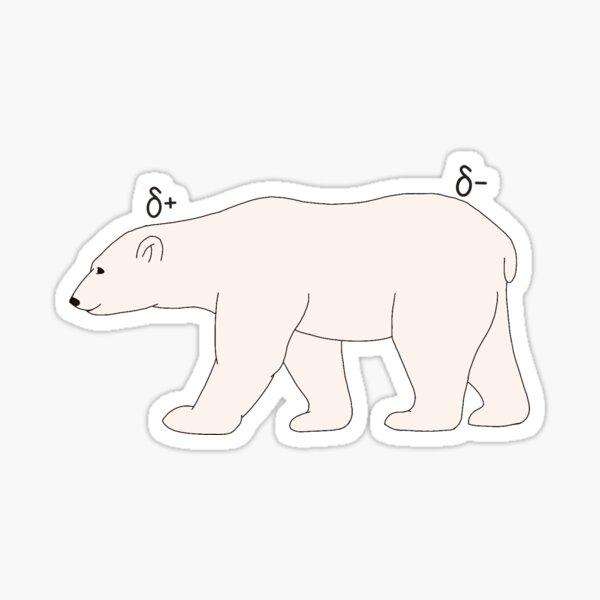 Chemistry Polar Bear Sticker