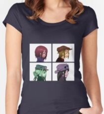 Houkago Tea Time (K-ON!) and Gorillaz mashup Women's Fitted Scoop T-Shirt