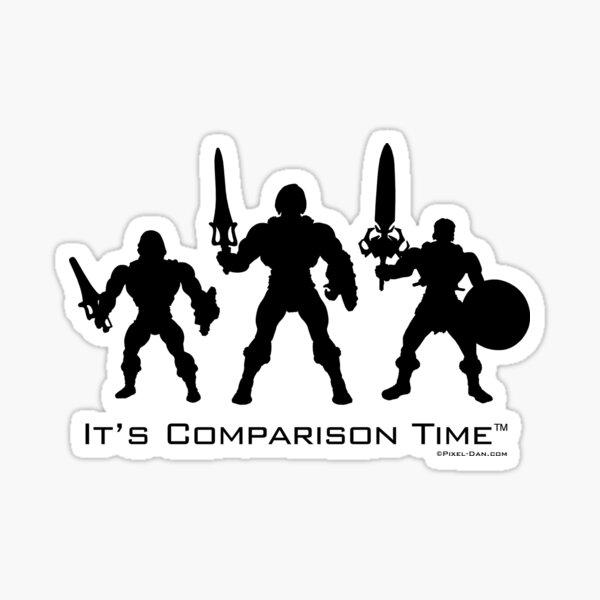 Comparison Time - Barbarian Black Sticker