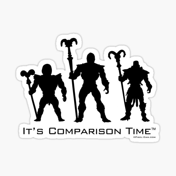 It's Comparison Time - Skeleton Black Sticker