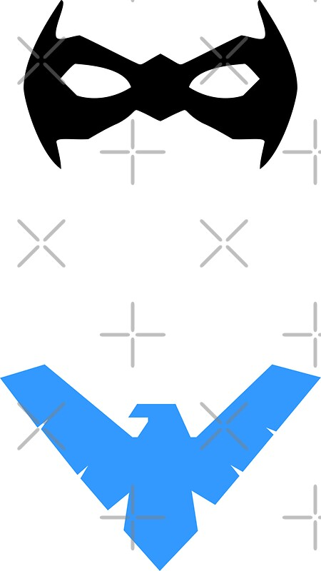 Nightwing mask and emblem by jjrenae