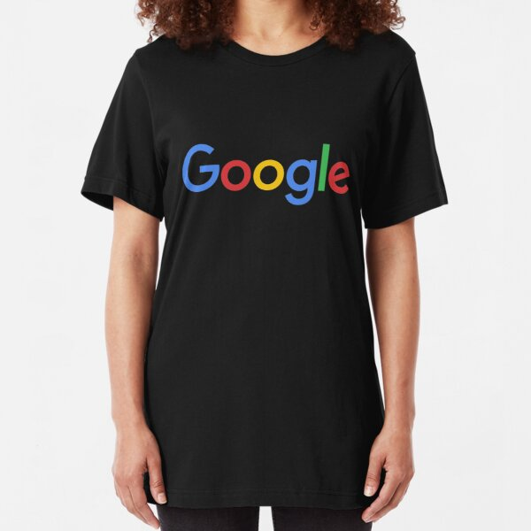 New Google Logo (September 2015) - Clear, High-Quality, Large Slim Fit T-Shirt