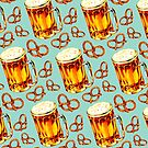 Beer & Pretzel Pattern by Kelly  Gilleran