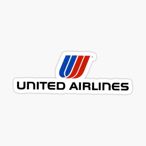United Airlines Retro Sticker Sticker