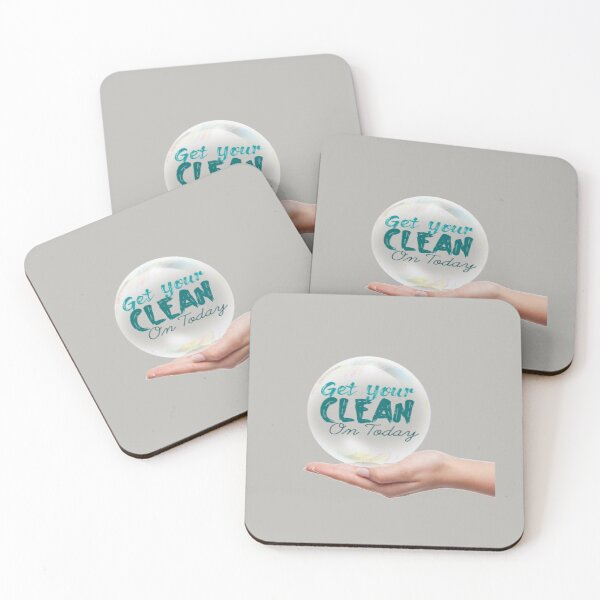 Get Your Clean On Today 2021 Coasters (Set of 4)