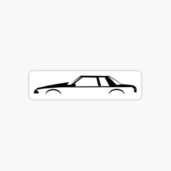 Notch Back Mustang Fox Body 5.0 Sticker
