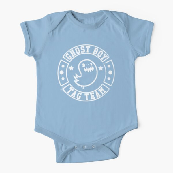Ghost Boy Tag Team  Short Sleeve Baby One-Piece