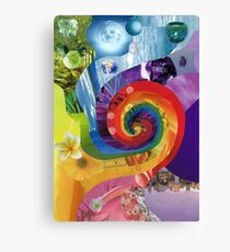 Colour wheel collage Canvas Print