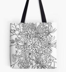 Succulents & Orchids - B&W Tote Bag