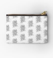 Succulents & Orchids - B&W Zipper Pouch