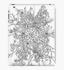 Succulents & Orchids - B&W iPad Case/Skin