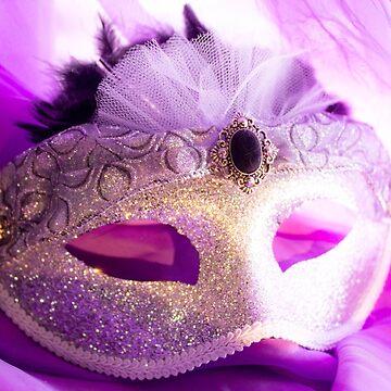 Silver Shimmer Mask by DustysPhotos