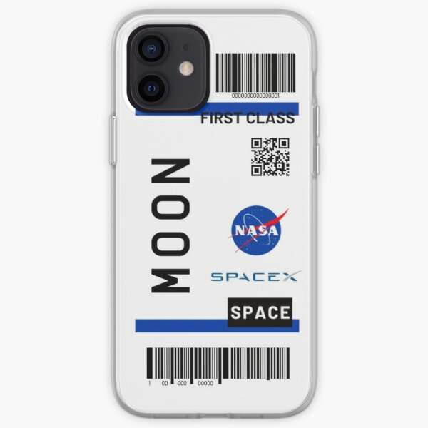Moon ticket Nasa Spacex iPhone Soft Case
