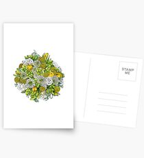 Yellow Roses & Succulents Postcards