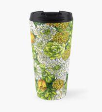 Yellow Roses & Succulents Travel Mug