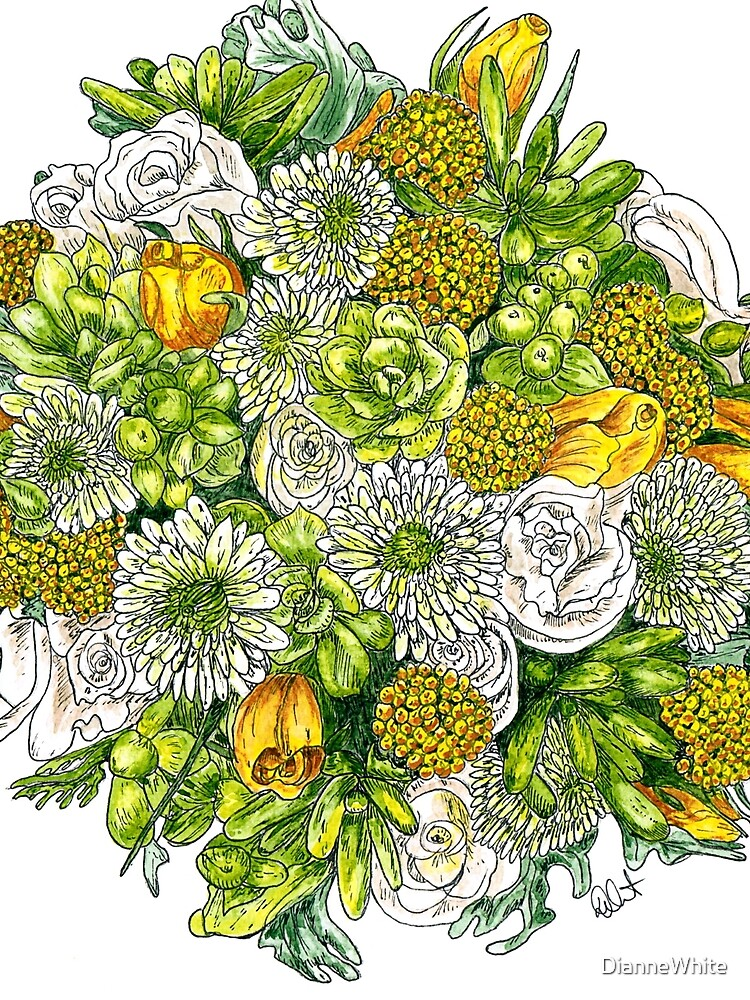 Yellow Roses & Succulents by DianneWhite