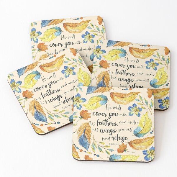 Bible Verses  Coasters (Set of 4)