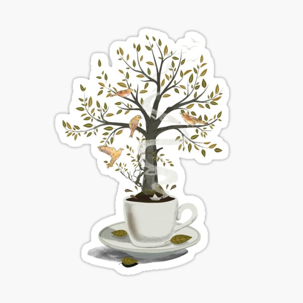 A Cup of Dreams Sticker