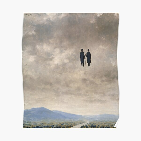 The Art of Conversation, by René Magritte Poster