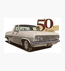 HR Holden Ute - 50th Anniversary - White Photographic Print