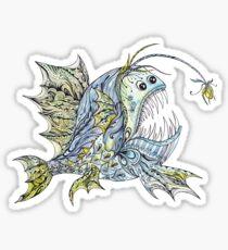 Creative Anglerfish Illustration Sticker