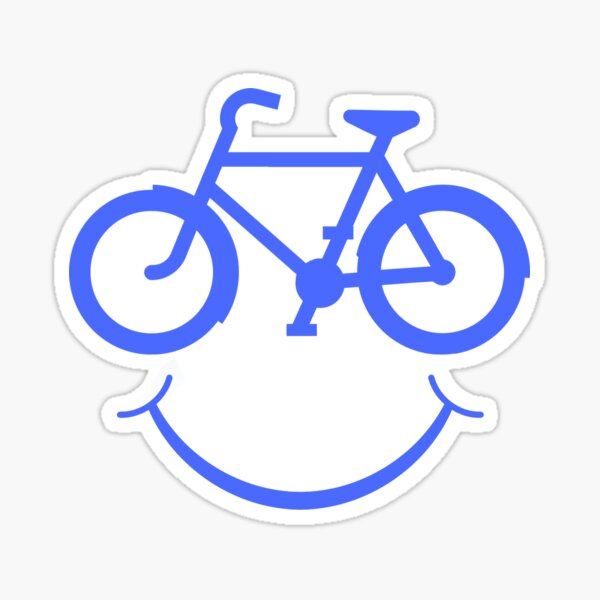 Smiling Bicycle - Funny Cycling Sticker
