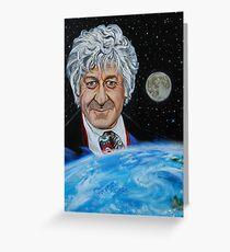 Third Doctor (Jon Pertwee) Greeting Card