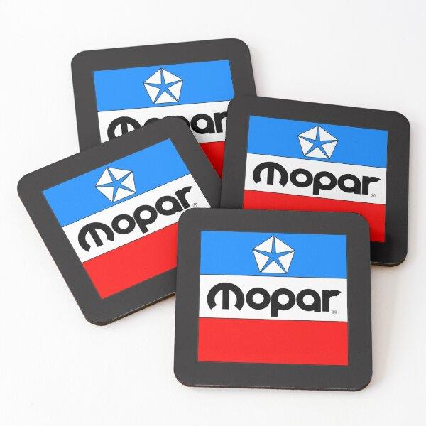 Mopar lassic Mopar Block Logo Coasters (Set of 4)