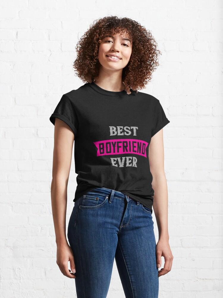 Alternate view of Happy Valentine Best Boyfriend Ever Classic T-Shirt