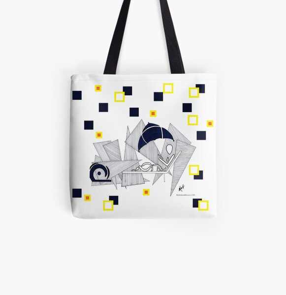 BlackWhiteandMax Beached in Barbados All Over Print Tote Bag
