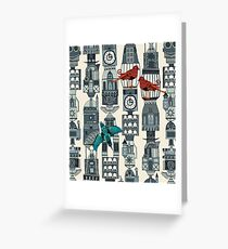 steampunk towers Greeting Card