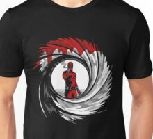 Superhero in Red Suit 007 Unisex T-Shirt