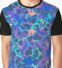 Blue Hip Hop Blob Splash Psychedelic Pattern  Graphic T-Shirt