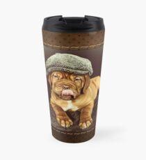 Dogue De Bordeaux Puppy Flat cap Travel Mug