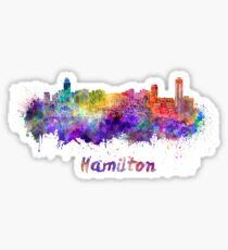 Hamilton skyline in watercolor Sticker