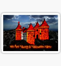 A Halloween Castle invitation to a party Sticker