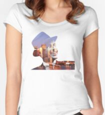 Frank Sinatra New York  Women's Fitted Scoop T-Shirt