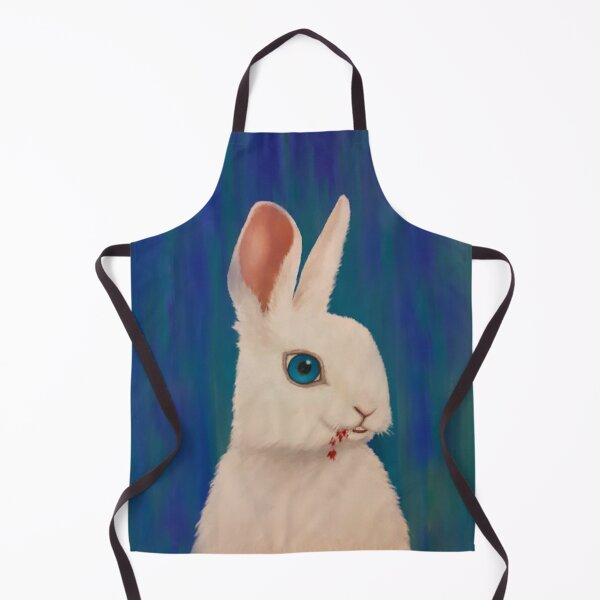 Adorable Rabbit Print Apron