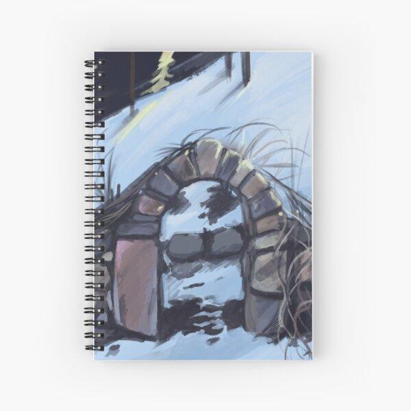 The Gate in Winter Spiral Notebook